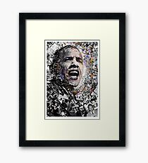"""I Am Not A Perfect Man,"" Obama Civil Rights and Protest Collage Framed Print"