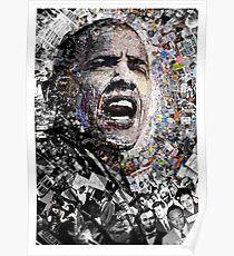 """""""Ich bin kein perfekter Mann"""", Obama Bürgerrechte und Protestcollage Poster"""