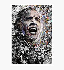 """I Am Not A Perfect Man,"" Obama Civil Rights and Protest Collage Photographic Print"