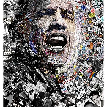 """""""I Am Not A Perfect Man"""", Obama Civil Rights and Protest Collage by worn"""
