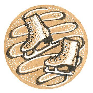 ice skates by DoughtycreARTiv