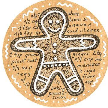gingerbread man by DoughtycreARTiv