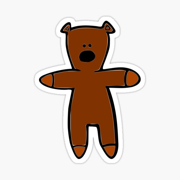 Mr Bean Teddy Sticker