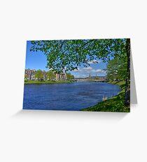 River Ness, Inverness, Scotland. Greeting Card