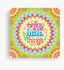 Enjoy the little things - Art by Thaneeya McArdle Canvas Print