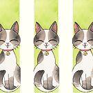 « Chat heureux maneki » par Libou