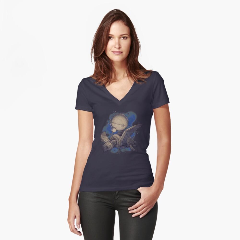 Globe Transporter Women's Fitted V-Neck T-Shirt Front