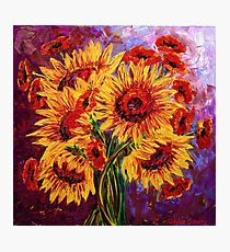 Sunflowers & Poppies Photographic Print