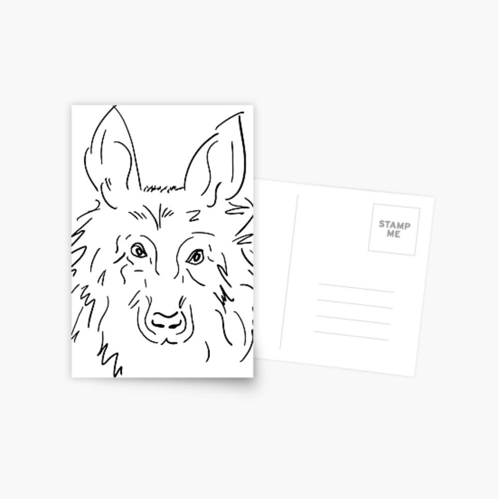 Das Hundet-shirt Postkarte