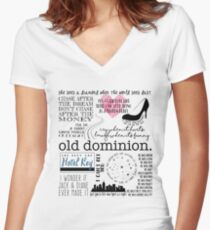 Old Dominion Lyrics Women's Fitted V-Neck T-Shirt