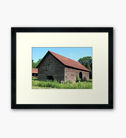 """""""A Simple and Old Timey Barn""""... prints and products Framed Print"""