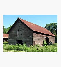 """""""A Simple and Old Timey Barn""""... prints and products Photographic Print"""