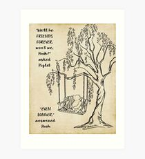 Winnie the Pooh - Friends Forever Art Print