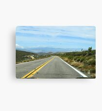 Sunrise Highway, San Diego County, California Canvas Print