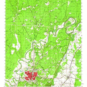 USGS TOPO Map Louisiana LA Bastrop 334242 1956 62500 by wetdryvac