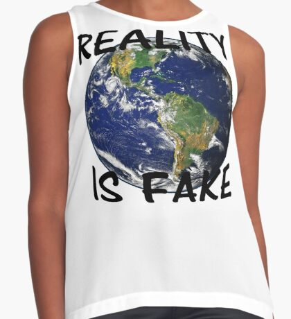 Reality is fake Contrast Tank