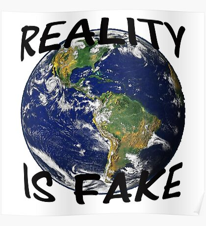 Reality is fake Poster