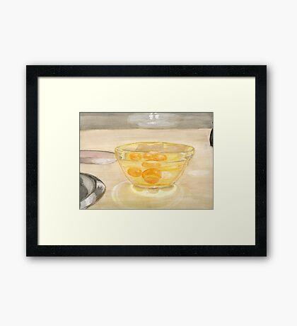 Eggs In Glass Framed Print