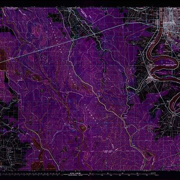 USGS TOPO Map Louisiana LA Baton Rouge 335157 1984 100000 Inverted by wetdryvac