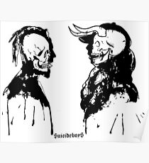 SuicideboyS $uicideboy$ Art Outlines Demons Poster