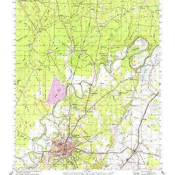 USGS TOPO Map Louisiana LA Bastrop 334243 1956 62500 by wetdryvac