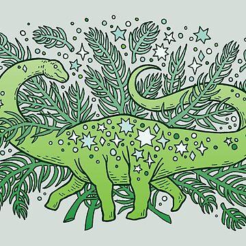 Winter Solstice Sauropod | Evergreens Palette by OMEGAFAUNA