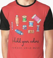 Colorful Handmade Bobbins Dark Graphic T-Shirt