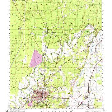 USGS TOPO Map Louisiana LA Bastrop 334244 1956 62500 by wetdryvac