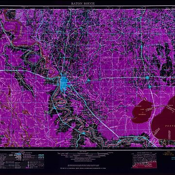 USGS TOPO Map Louisiana LA Baton Rouge 335209 1961 250000 Inverted by wetdryvac
