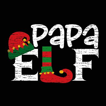 Dad Elf Gift Family Suitable for Christmas Funny T-Shirt by MrTStyle