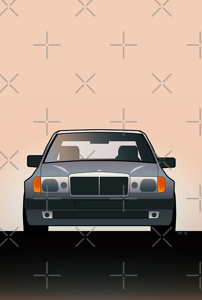 Modern Euro Icons Series Mercedes Benz W124 500E by Tom Mayer