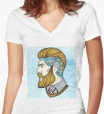 Hipster Man Women's Fitted V-Neck T-Shirt