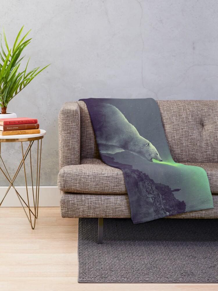 Alternate view of aurora Throw Blanket