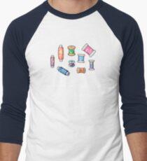 Colorful Handmade Bobbins Light Men's Baseball ¾ T-Shirt