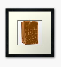 Ghetto Grocery Bag Framed Print