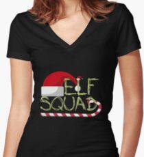 Elf Squad Women's Fitted V-Neck T-Shirt
