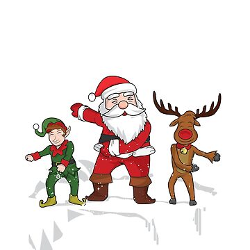 Christmas Floss Shirt Santa Flossing Reindeer & Elf T-Shirt by thehadgaddad
