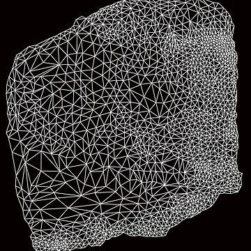 white geometric pattern by sledgehammer