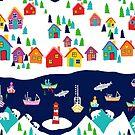 Scandinavian fishing village by MagentaRose