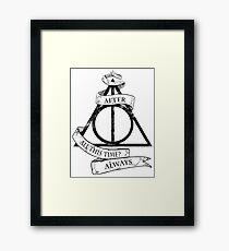 Harry triangle sorcerer Framed Print