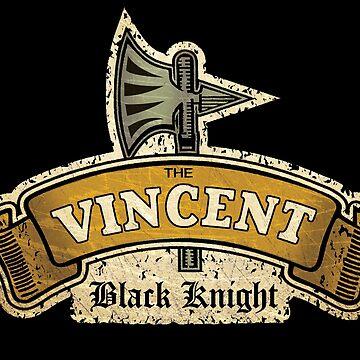 The Vincent Black Night Vintage British Motorcycle by midcenturydave
