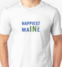 Happiest in Maine with Chickadee Unisex T-Shirt