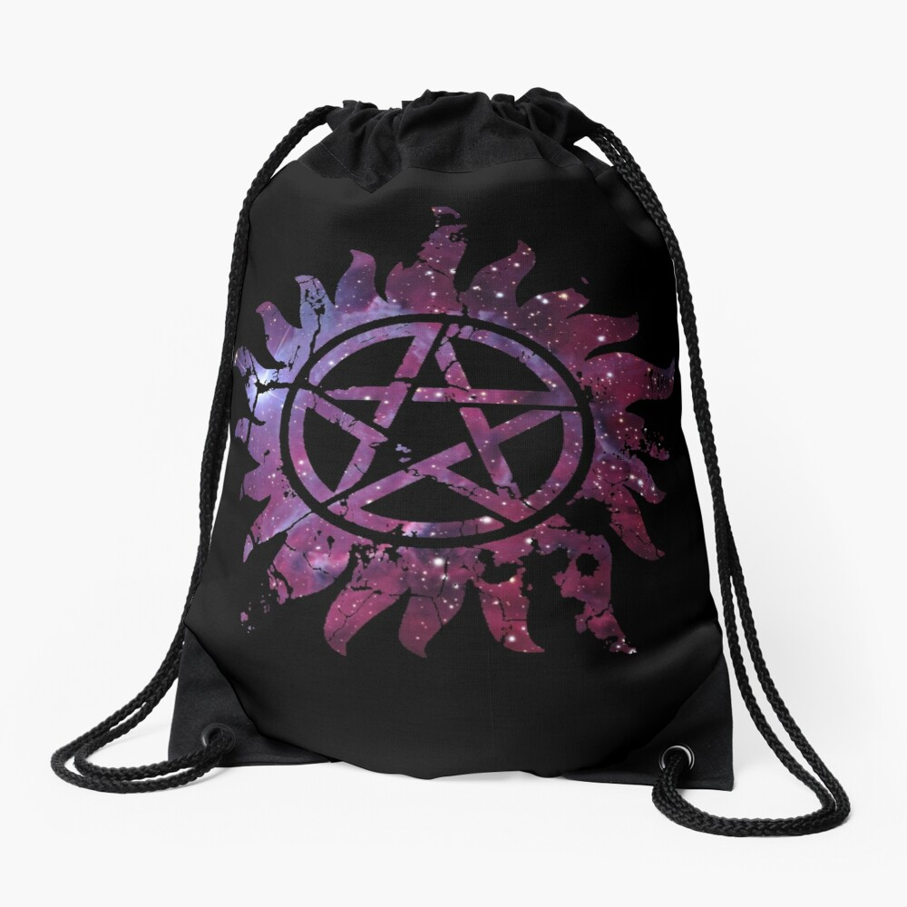Supernatural Anti-Possession Galaxy Print Drawstring Bag
