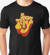 Super Fly Logo (Yellow, Distressed) Unisex T-Shirt