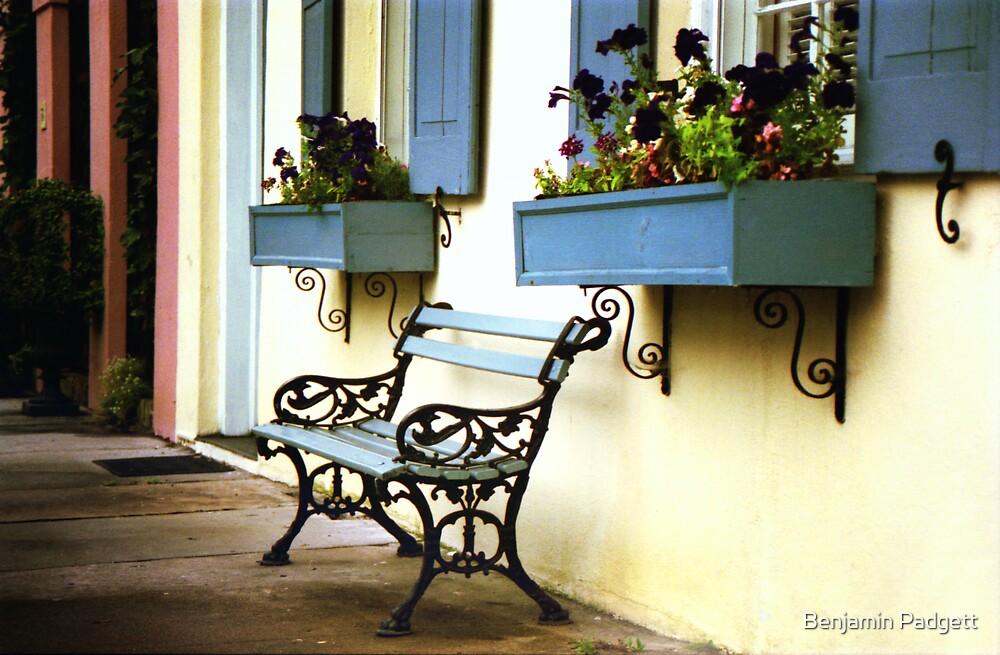 Rainbow Row Bench by Benjamin Padgett