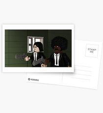 Lego Brick Fiction Parody Variant 02 Postcards