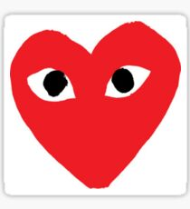 Heart with eyes logo Sticker