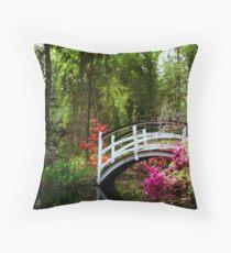 Magnolia Bridge No. 3, Charleston, SC Throw Pillow