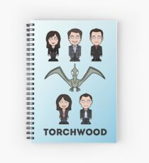 Torchwood team (print or card) Spiral Notebook