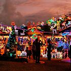 Christmas Lights at Sunset by Penny Smith